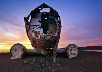 La face de L'avion écrasé - Iceland - 25 décembre