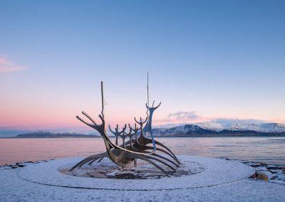 Le voyageur du soleil rose Reykjavik
