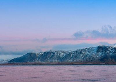 Panoramique sur la rive de reykjavick