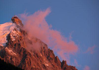 Aiguille du midi (vue de Chamonix) 27 juillet 2012