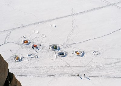 Camping en haute montagne - Mont blanc 23 juillet 2012