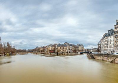 Innondation de la Seine - Ile Saint Louis - Paris 26 janvier 2018 _
