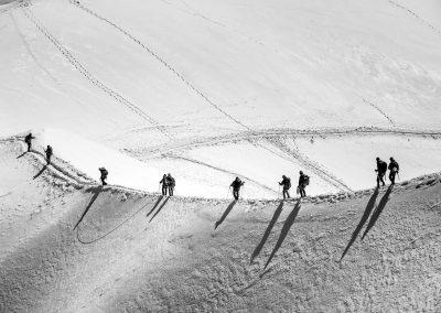 Les Chemins de neige - Chamonix juillet 2012