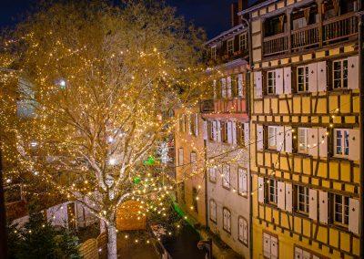 Nuit de Noél sur le marché de Colmar_