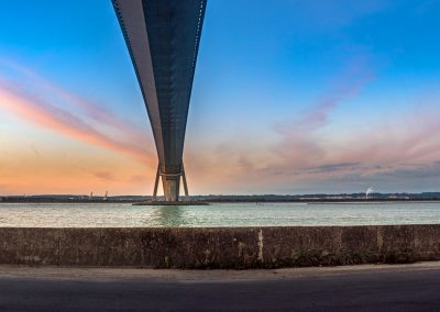 Panoramique sur le pont de Normandie - 23 sept 2016_