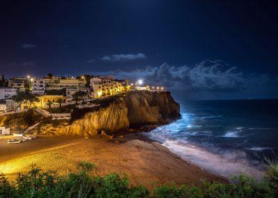 Pleine lune sur Carcoeiro - Algarve (Portugal) 20 avril 2016