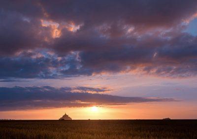 Sur la ligne d'horizon du mont Saint Michel - 20 juillet 2017