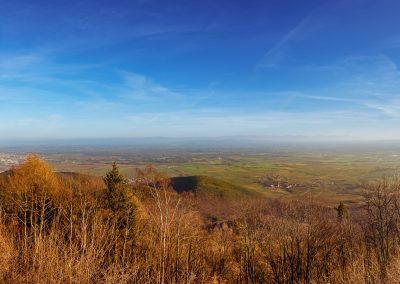 Vue sur la vallée du haut Koenigsbourg (Alsace) décembre 2015_