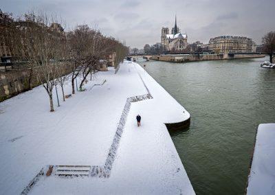 la neige sur les quai de seine - Paris 21 janvier 2013